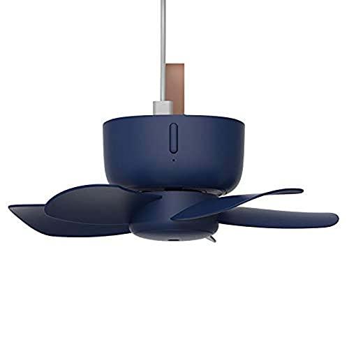 AOSHEN Deckenventilator-Luftkühler, 4-Gang-Mini-Hängender Fernbedienung, Timing, USB für Camping-Zelt-Studentenwohnheim-Bett,Blau