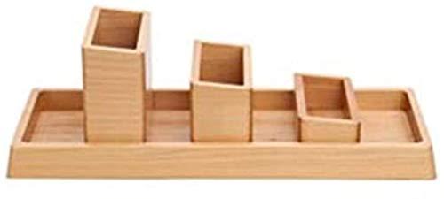 Gjrff Caja de Madera Creativa 4 Conjuntos de Adornos de Escritorio de Oficina Caja de Almacenamiento de Escritorio de Alta Capacidad Multifuncional