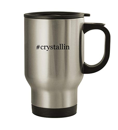 #crystallin - 14oz Stainless Steel Travel, Silver