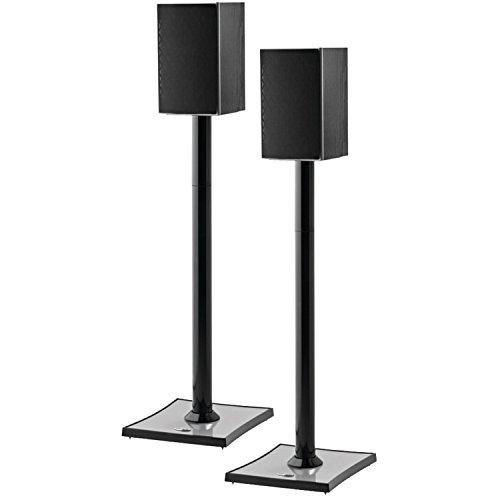 OmniMount GEMINI2B Bookshelf Speaker Stand, Black