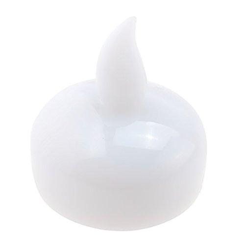 Gosear® 12 Pcs Mariage Anniversaire Fête Décorative Flottante LED Bougies Lampe Blanc