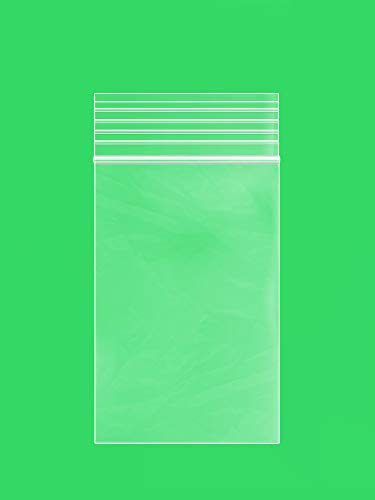 Clear Plastic Reusable ZIPLOCK Bags – Bulk GPI Pack of 100 2″ x 3″ 4mil Thick Heavy Duty, Strong & Durable Poly Baggies with Resealable Zip Top Lock for Travel, Storage, Packaging & Shipping.