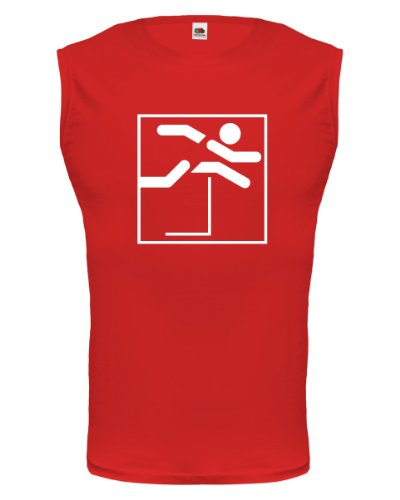 Tank Top Hürdenlauf-Piktogramm-XXL-Red-White