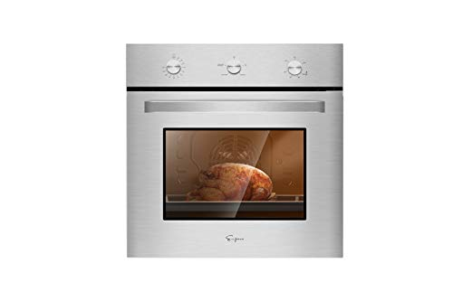 Empava 24 in. 2.3 cu. Ft. Single Gas Wall Oven Bake Broil...
