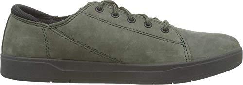 Timberland Davis Square Leather Oxford, Zapatillas Unisex-Niño, Verde (Dark Green Nubuck), 34 EU