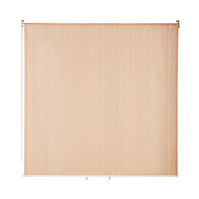 VICLLAX Outdoor Roller Shade, Patio Blinds Roll Up Shade (6' W X 6' L), Wheat