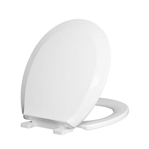 PanYFDD Quick Release Toilet Zitplaatsen Met Een Knop, Zachte Sluitende Toilet Seat Deksel Pans Cover,Heavy Duty White Badkamer, Familie, Wasruimte