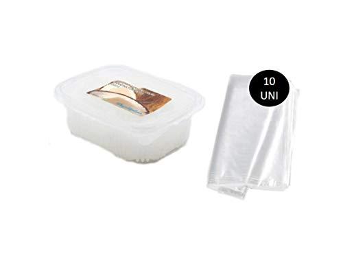 Parafina de Coco 1000ml + 10 Bolsas para Tratamiento de Parafina Manos y Pies Uso Profesional