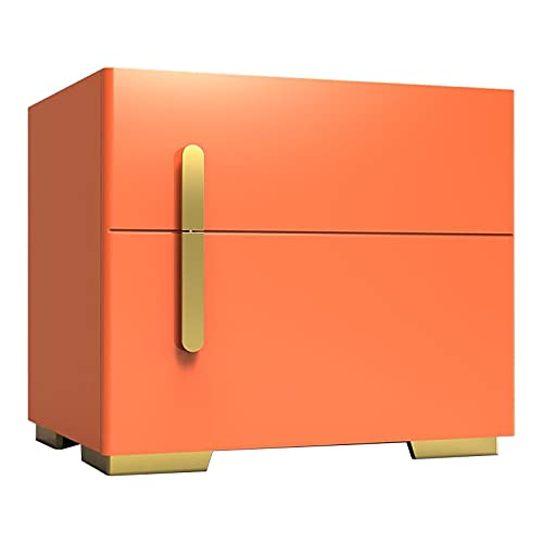 DAPAO Caja de Seguridad Electrónica, Caja Fuerte, Caja Fuerte para Mesita de Noche, Blanco/Naranja/Gris Opcional, Desbloqueo de Contraseña con Huella Digital (50x41x45cm)