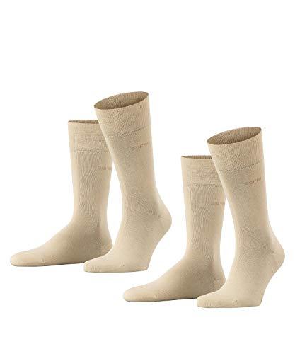 ESPRIT Herren Basic Easy 2-Pack M SO Hausschuh-Socken, Blickdicht, Beige (Cream 4011), 43-46 (2er Pack)