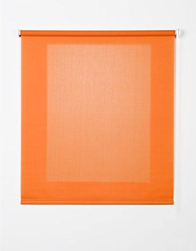 Estores Basic- Enrollable Traslúcido , Naranja, 75x175 cm