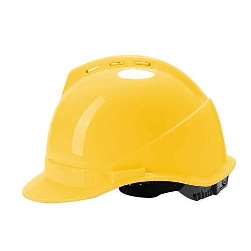 ZBM-ZBM Casco De Seguridad, Tipo V Cascos De Ingeniería ABS De Alta Resistencia Sitio Casco Transpirable Antiácaros Casco de Seguridad Industrial (Color : Yellow)