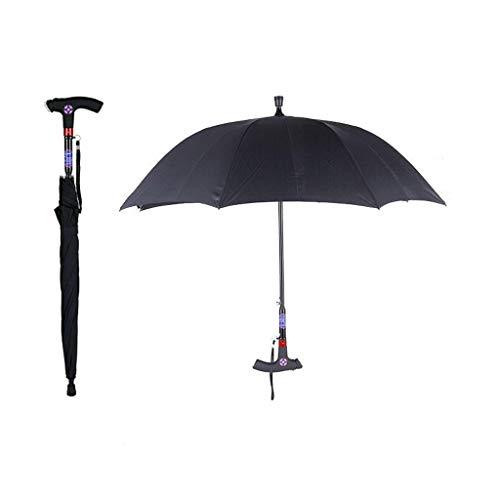 Wandelstok Paraplu, 2-In-1 Steunpilaar Paraplu Met Multi-Function Smart Handle Radio Voor Volwassenen Senioren