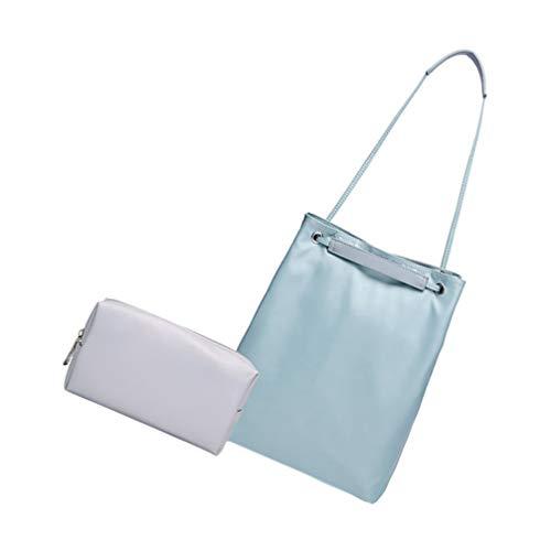 SOLUSTRE 2Pcs Laptop Tasche Tablet Aktentasche Notebook Fall Große Kapazität Schulter Tasche mit USB Stick Tasche für Männer Frauen Kompatibel für Macbook 14/15. 6 Zoll