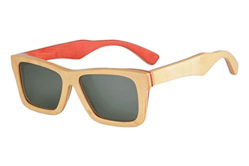 SHINU Gafas de sol polarizadas de madera retro para hombres y mujeres, protección UV, gafas de sol ligeras de madera-FG68020