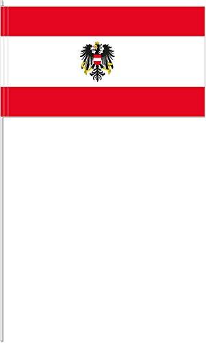 DH-Konzept 10 Fähnchen * ÖSTERREICH * als Deko für Mottoparty oder Länder-Party // Austria Alpen Flaggen Fahnen Papierfahnen Flag