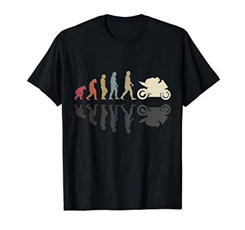 Motocicleta evolución vintage sombra ciclista motociclista Camiseta