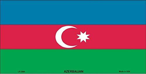 Dom576son License Plate Frame, Azerbeidzjan Vlag License Plate Aluminum Metal Sign 6