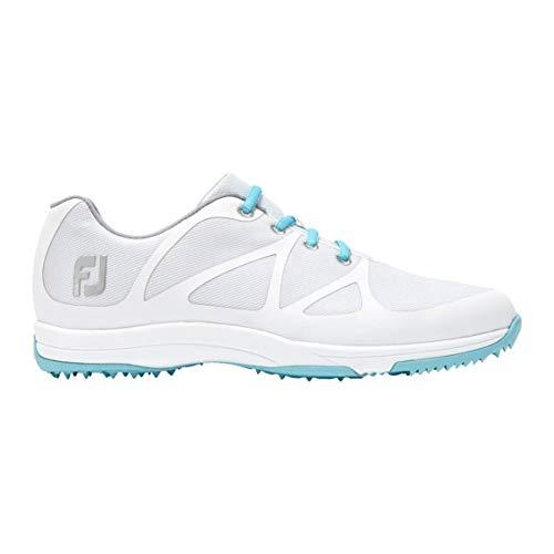 Footjoy Damen Fj Leisure Golfschuhe, Weiß (Blanco/Azul 92914m), 40.5 EU