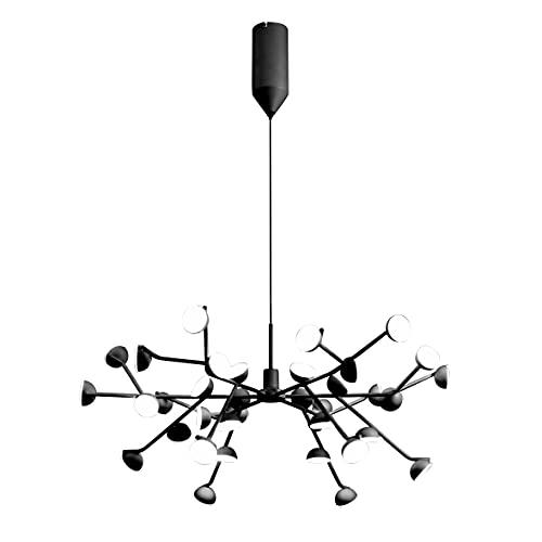 Mantra Iluminación. Modelo ADN. Lámpara de techo colgante fabricado en aluminio y hierro acabado en color blanco. Altura regulable