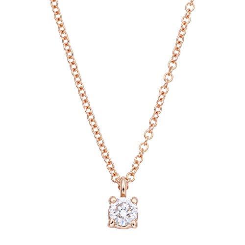 [ティファニー] TIFFANY ダイヤモンド0.12ct 18KRG ローズゴールド ソリティア ブリリアントカット ダイヤモンド ペンダント・ネックレス 30420837 [並行輸入品]