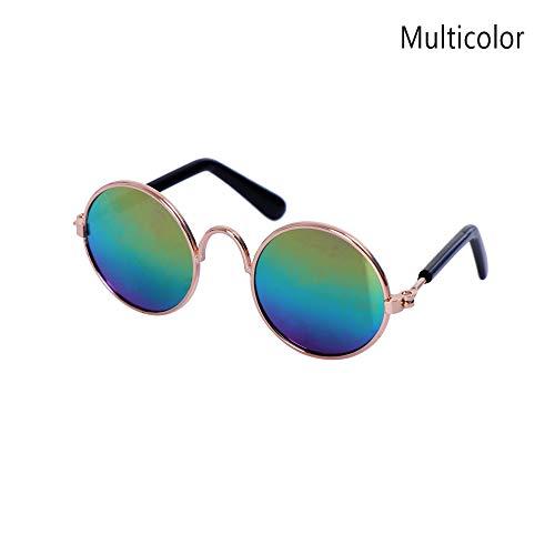 baisede Mehrfarbige Haustier-Sonnenbrille, Katzen-Brille, Schutz für kleine Hunde und Katzen, Requisiten, niedliche, coole Brille