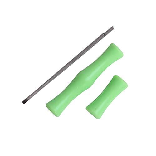 GAOJIAN Protectores de Silicona para Tiro,Protector de Arco de Tiro Recto recurvo El posicionamiento de absorción de Impactos de la Cuerda del Arco Protege los Dedos Bowstring Finger Saver - Green