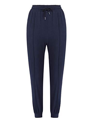 Irevial Pantalon Chandal Mujer Largos Algodon Pantalones Deportivos Mujer con Bolsillos y Cordón Patalones de Punto de Yoga Fitness Jogger
