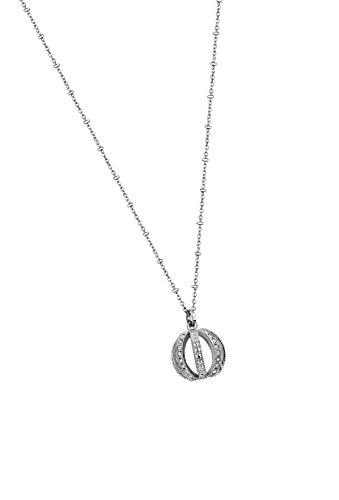 Lotus Style LS1749-1/1 - Collar con colgante de acero inoxidable y cristal...