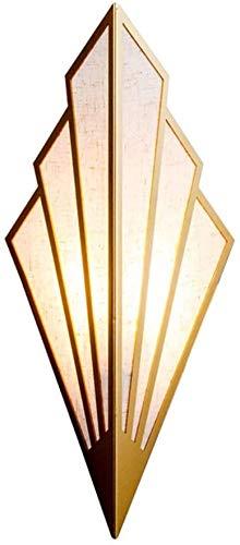 YINGYING Lámpara de Pared LED de Lino en Forma de Ventilado