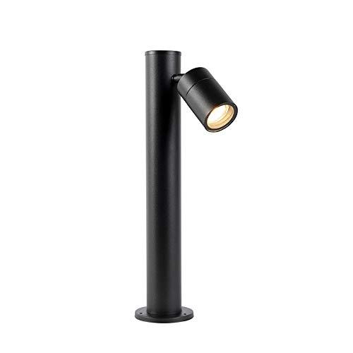 QAZQA Moderno Baliza negra 45cm ajustable IP44 - SOLO Acero inoxidable Alargada...