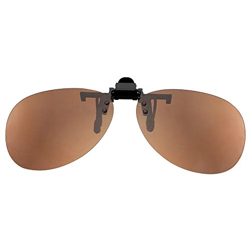 Clip-on zonnebril, gepolariseerde zonnebril, anti-UVA UVB, autorijden, nachtzicht, veiligheidsbril voor mannen en vrouwen bruin