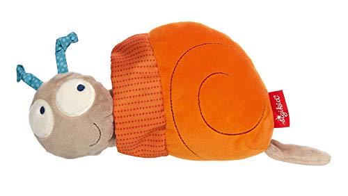 SIGIKID Mädchen und Jungen, Aktiv-Spielzeug Rattel-Schnecke zum Aufziehen, Babyspielzeug, empfohlen ab 3 Monaten, orange/beige, 42436
