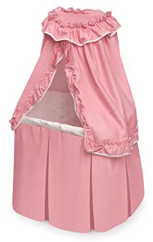 Badger Basket Kisses Rocking Doll Bassinet (fits American Girl Dolls), Pink