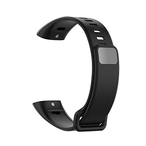 NA Silicone Wrist Strap For Huawei Band 2 Pro Band2 ERS-B19 ERS-B29 Sports Bracelet Straps Wristband black