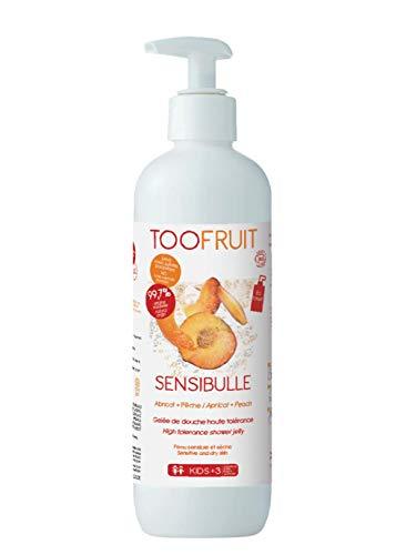 Toofruit Sensibulle Gelée de Douche Haute Tolérance Abricot Pêche Bio 400 ml