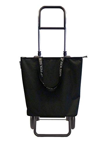 ROLSER Einkaufsroller Logic RG / Mini Bag Plus MF, MNB009, 41 x 32 x 105,5 cm, 18 - 41 Liter, 40 kg Tragkraft, schwarz