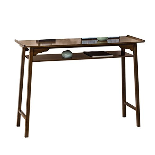Saladplates-LXM Konsolentisch, Neue Chinesischer Sofa Tisch, Massivholz Veranda Tisch, Einfach Beistelltisch, Schmaler Tisch An Der Wand, Langer Tisch