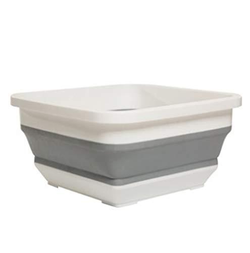 HEG Folding handfat Stora torg Portable resor bassängen tvättho Creative förtjockning hälsa Buckets (Color : A)