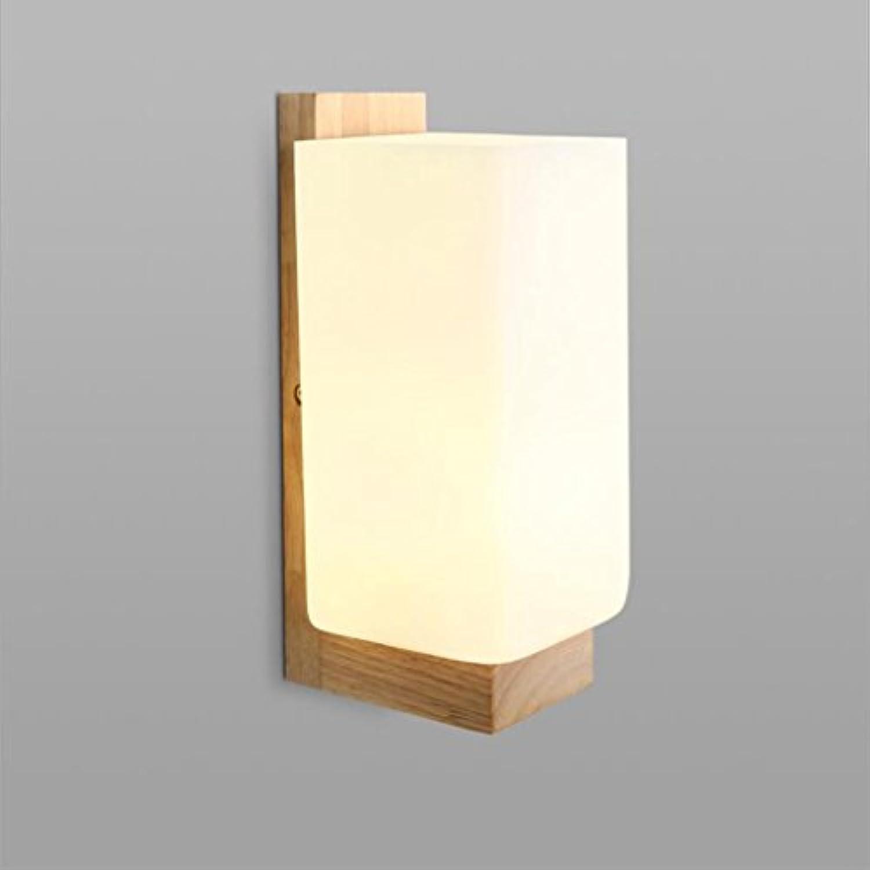 Madaye Europische Eiche Wandleuchte LED einfach Holz Korridor Licht warm Schlafzimmer Nachttischlampe