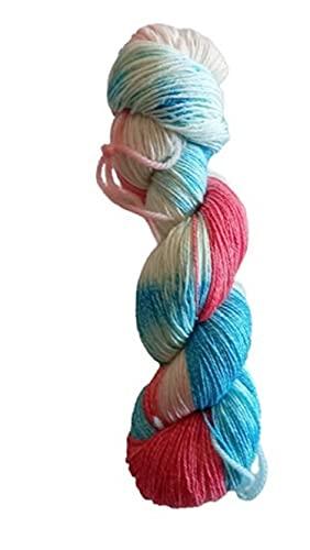 Fine Cotton teñido a mano – 100 g/416 m – 50% lana virgen, 25% algodón, 25% poliamida (lana...