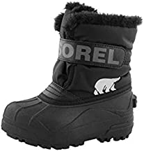 Sorel Toddler Snow Commander Boot for Rain and Snow - Waterproof - Black, Charcoal - Size 5