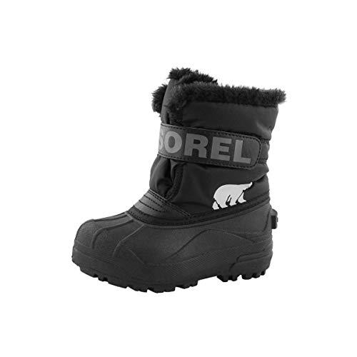Sorel Children's Snow Commander Boot - Waterproof - Black, Charcoal - Size 9