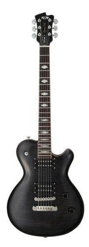 FGN FGFLFMTK Expert Flame Top E-Gitarre sunburst schwarz/transparent
