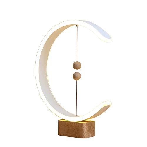 Lievevt Lámpara Escritorio Luz de Equilibrio de levitación magnética, luz de Noche LED Creativa Inteligente, Regalo de Cumplea?os Divertido, lámpara de mesita de Noche para Dormitorio Moderno