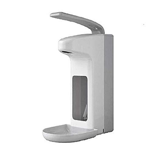 Desinfektionsmittelspender Kunststoff 500ml / 1000ml, Armhebelspender mit Tropfschale, Desinfektionsmittel Wandspender, Größe:500 ml