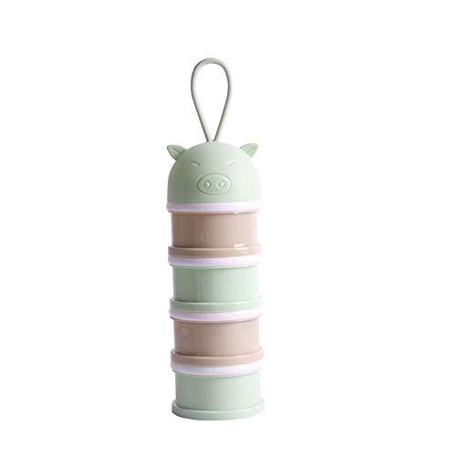 Porzionatore per Latte in Polvere, Dosatore per Latte in Polvere Impilabile Contenitore Spuntino, Libero Impilabile Scatola per Latte in Polvere, Materiali di PP qualità Alimentare