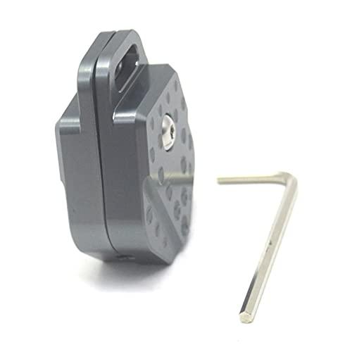Carcasa Protectora para Llave Accesorios De Aluminio CNC para Motocicleta, Carcasa para Llaves, Carcasa para Llaves, Carcasa Protectora para YA-MAHA FZ8 FZ-8 FAZER (Color : Titanium)