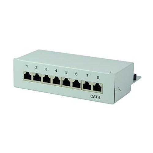 LogiLink Professional Cat.6 (250 MHz) panel krosowy - pole rozdzielające, stoł/ściana/biurko, STP (ekranowany) 8-portowy (RJ45)