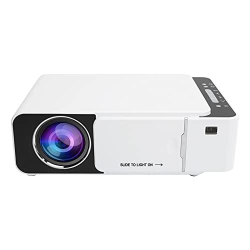 Mini proyector Proyector de video portátil Proyector de películas de cine en casa multimedia admite la misma pantalla de teléfonos móviles, tabletas, computadoras portátiles(Enchufe de la UE)